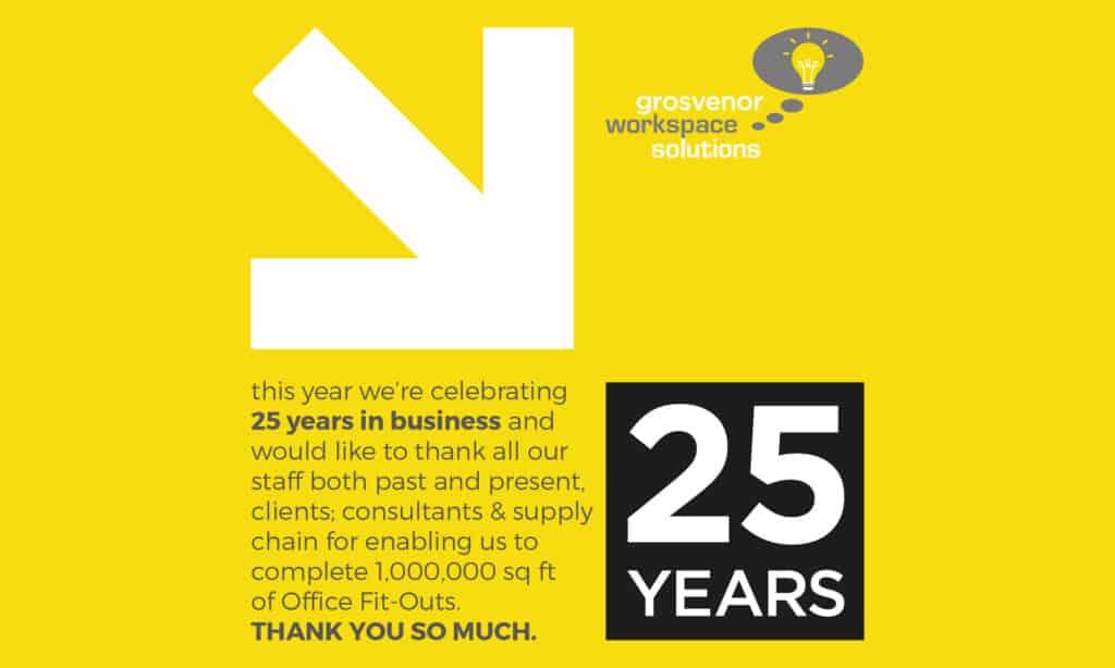 Grosvenor Workspace Solutions - 25th Anniversary
